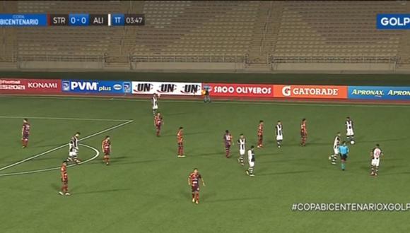 El estadio San Marco sufre corte de luz en pleno partido entre Alianza Lima y Santa Rosa. (Foto: Captura GOLPERÚ)