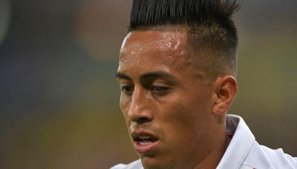 Christian Cueva jugó por última vez en Santos el pasado 14 de setiembre en la derrota 1-0 ante Flamengo   Foto: AFP