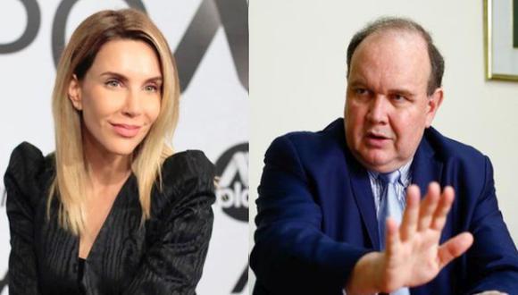 Conductora de televisión, Juliana Oxenford, hace responsable en Twitter a Rafael López Aliaga si le sucede algo.