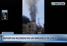 Lince: incendio en departamento moviliza al menos 8 unidades de los bomberos
