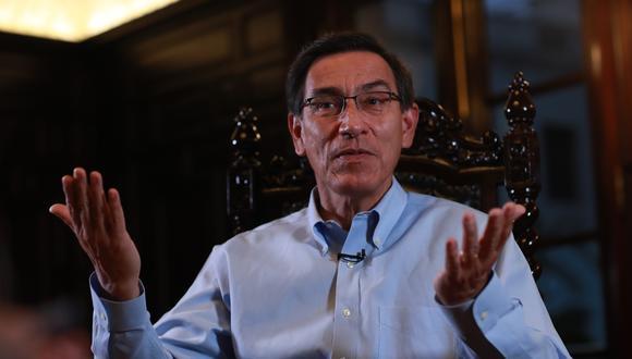 """El expresidente Vizcarra indicó que si no se posterga el proceso electoral igual participará del mismo, pero consideró que """"habrían grandes problemas"""" para su realización. (Foto: GEC)"""