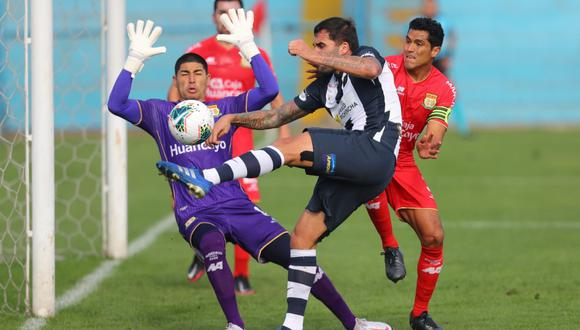 Alianza Lima empató 1-1 con Sport Huancayo por la octava jornada de la Fase 2 de la Liga 1. | Foto: GEC
