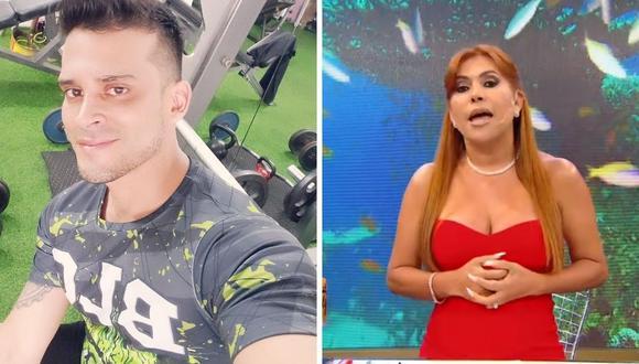 Magaly Medina manifestó su incomodidad con la acción de Christian Domínguez al mentir en su pase laboral. (Foto: Instagram / @christiandomiguezof / Captura ATV)