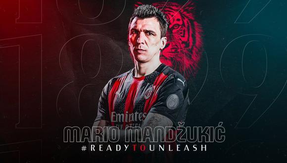 Mario Mandzukic fue anunciado como nuevo jugador del AC Milan. (Foto: AC Milan)