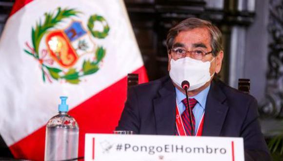 Ministro de Salud anunció nuevo caso de la variante india en la región Arequipa. (Foto: Presidencia del Perú)