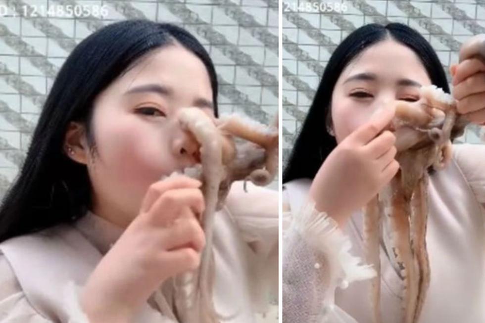 Bloguera china protagonizó una escena viral de una manera que nunca esperó. (Foto: Captura)