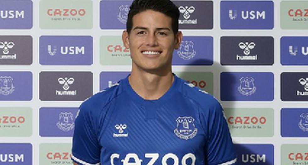 James Rodríguez, titular en el debut con Everton en la Premier League frente a Tottenham