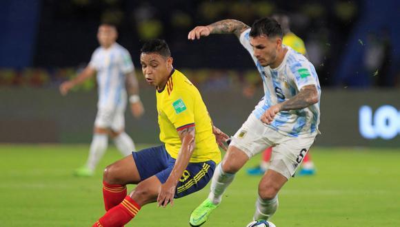 En duelo válido por las Eliminatorias al Mundial de Qatar 2022 la selección cafetera rescató un punto ante Argentina EFE/ Ricardo Maldonado