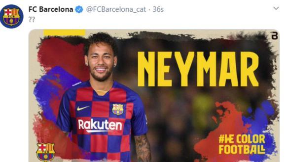 Barcelona anunció el fichaje de Neymar tras sufrir un ataque cibernético que colapsó sus redes sociales