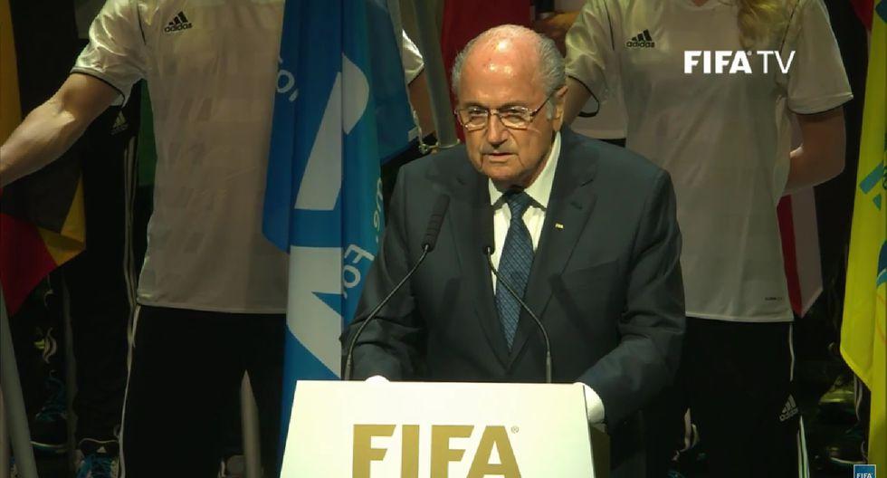 """Joseph Blatter: """"Los que corrompen el fútbol son minoría"""""""