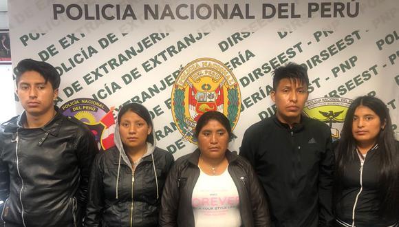 Extranjeros fueron detenidos cuando iban a viajar con destino a México. (Foto: PNP)