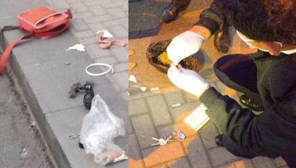 En las imágenes se aprecia el arma y la droga decomisada. (Fotos: Policía Nacional)
