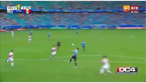 Perú vs. Uruguay | Luis Suárez tuvo la primera llegada clara para los charrúas | VIDEO