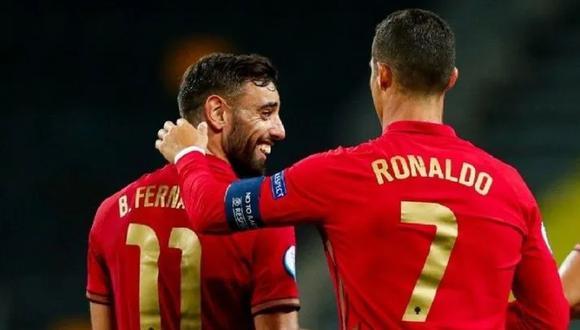 Bruno Fernandes fue titular en la victoria 3-0 de Portugal vs. Hungría. (Foto: AFP)