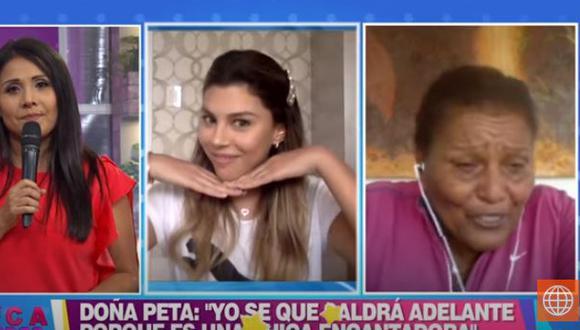 "Doña Peta elogió a Alondra García Miró: ""Ya no es mi nuera, es como mi hija"" (Foto: captura)"