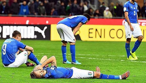 Así informó la prensa italiana la eliminación de la 'Azzurra'