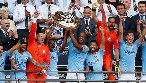 Manchester City campeón de la Community Shield 2018