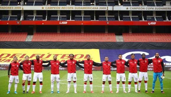 De esta manera cantaron los jugadores de la selección peruana el himno nacional. (Foto: Selección Peruana)