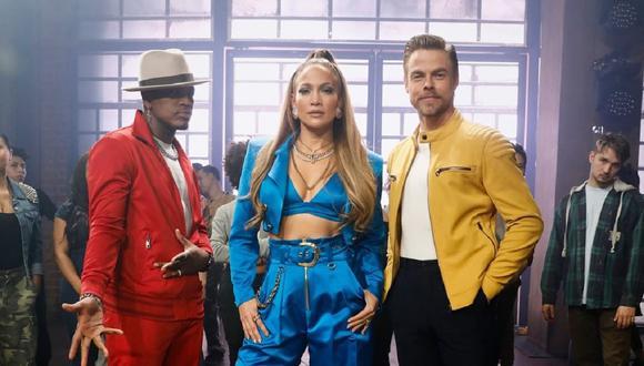 """Jennifer Lopez junto a Derek Hough y Ne-Yo, jurado del reality """"World of Dance"""". (Foto: @nbcworldofdance)"""