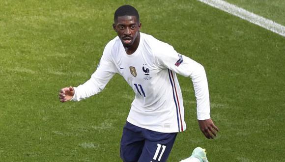 Ousmane Dembélé participó en los dos primeros partidos de Francia en la Eurocopa. (Foto: AFP)