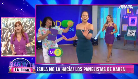 Magaly Medina se refirió a Karen Schwarz luego que su programa fue sacado del aire de Latina. (Foto: Captura ATV)