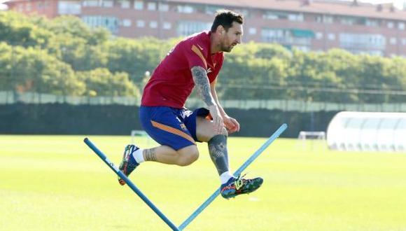 Lionel Messi tuvo su cuarto día de entrenamientos en el complejo del Barcelona. (Foto: FC Barcelona)