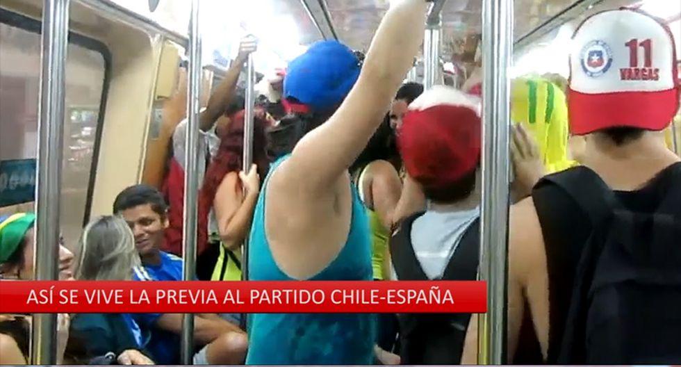 Mundial Brasil 2014: Hinchas chilenos viven la previa del Chile vs España [VIDEO]