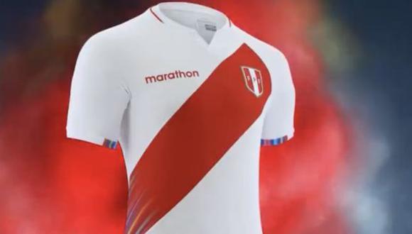 La selección peruana presentó su camiseta oficial para la Copa América 2021. (Captura: Marathon)