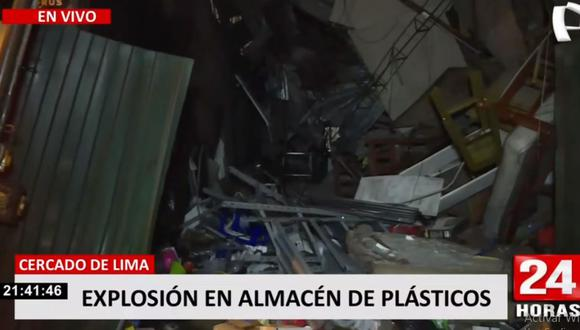 Así quedó el inmueble del jirón Huamanga tras explosión de un balón de helio. (24 Horas)