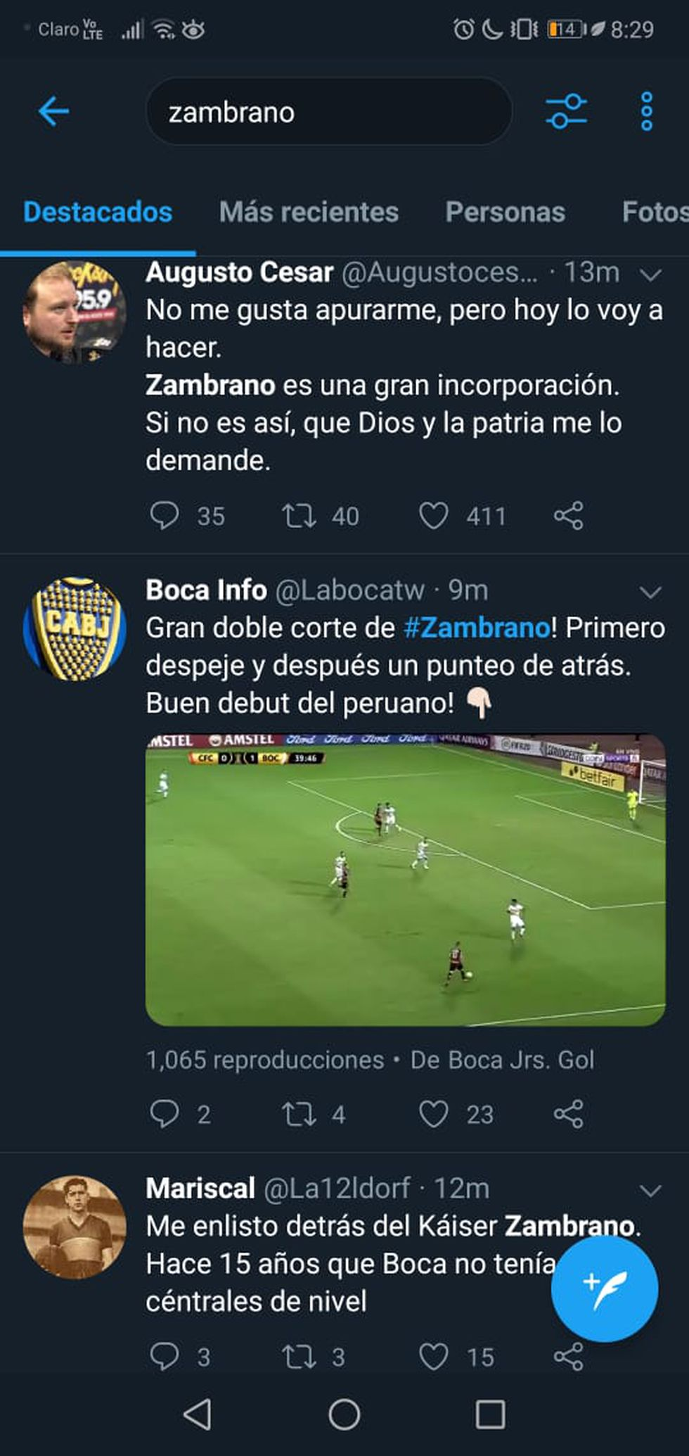 Carlos Zambrano: Boca Juniors fans surrender to 'Kaiser' after their debut