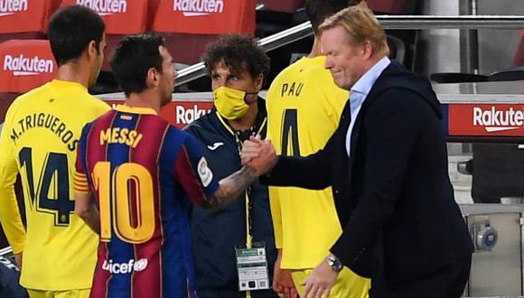 Ronald Koeman explicó la ausencia de Lionel Messi con Barcelona en Champions League. (Foto: AFP)
