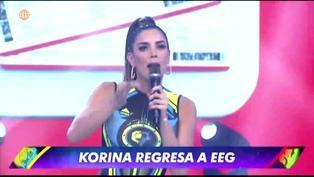 EEG: Korina Rivadeneira regresa a la competencia