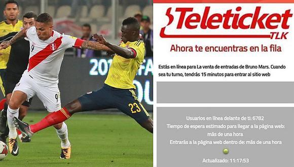 Indecopi multó a Teleticket con más de 90 mil soles por el Perú vs Colombia