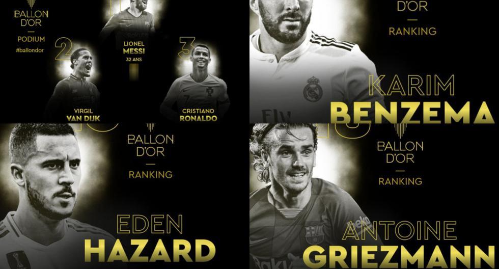 El top 30 de los nominados al Balón de Oro 2019