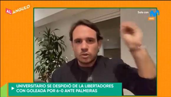 El periodista de Movistar Deportes dio su opinión sobre la goleada que le propinó Palmeiras a Universitario por la Copa Libertadores.