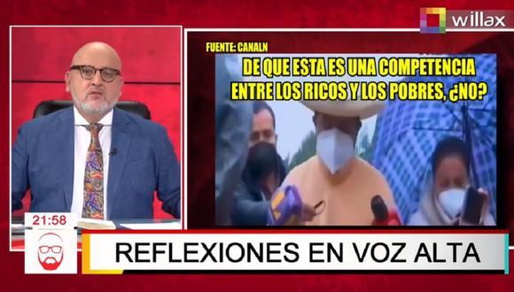 Beto Ortiz envió un mensaje a todos los peruanos que le piden organice marchas en defensa de la democracia y en contra de Pedro Castillo.  (Captura Willax)