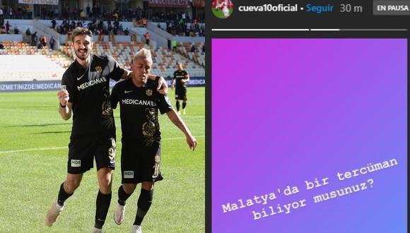 El volante de la selección peruana, Christian Cueva dejó un mensaje en su cuenta de Instagram luego que su entrenador lo cambiara a los 37 minutos del primer tiempo del encuentro del Yeni Malatyaspor