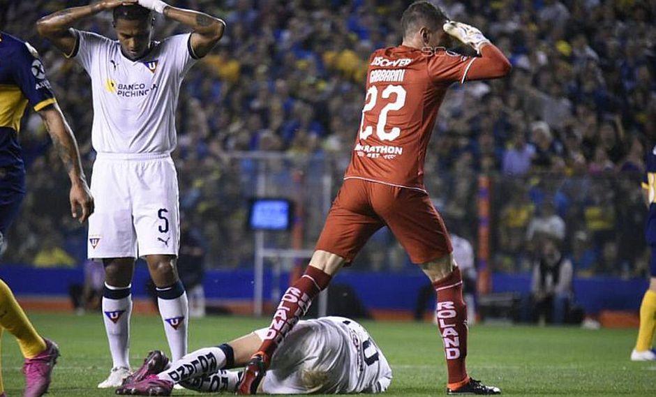 Boca Juniors vs. Liga de Quito: La escalofriante lesión de Christian Cruz tras romperse el tobillo | VIDEO