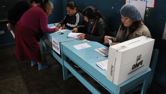 No todos los ciudadanos pueden ser miembros de mesa en estas elecciones (Foto: GEC)