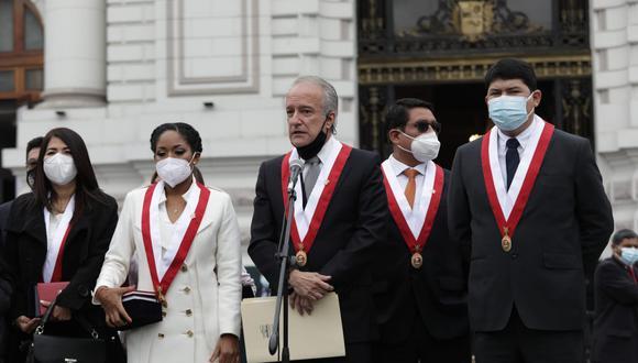 Hernando Guerra García es vocero de la bancada de Perú Libre. (Foto: GEC)