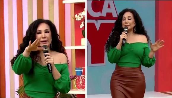 Janet Barboza mostró su molestia por lo sucedido con Christian Domínguez. (Foto: Captura América TV).