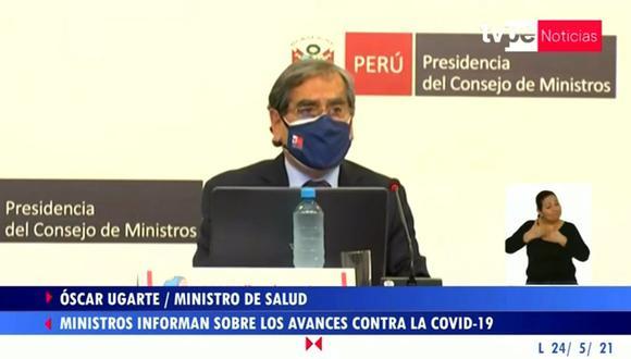 El ministro de salud Óscar Ugarte informó que se detectó el primer caso de la variante india del COVID-19