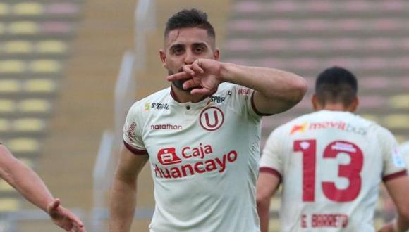 Luis Urruti anotó 6 goles en la temporada 2020 con Universitario. (Foto: Liga De Fútbol Profesional)