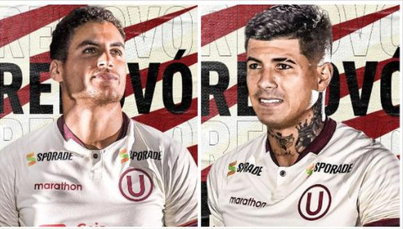Alexander Succar y Armando Alfageme continuarán su carrera en Universitario. (Foto: Universitario de Deportes)