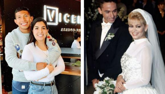 La boda entre la presentadora de televisión Gisela Valcárcel y el futbolista Roberto Martínez marcaron a la televisión peruana. (Captura de pantalla)