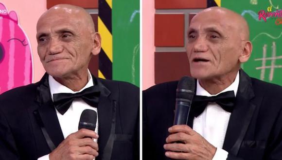 """""""Felpudini"""" visitó el set de """"El Reventonazo de la Chola"""" y recibió una placa por su trayectoria. (Foto: Captura América TV)."""