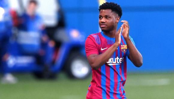 Ansu Fati volvió a la convocatoria del FC Barcelona. (Foto: Getty)