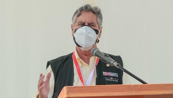 La Municipalidad de Trujillo que tiene como alcalde a José Ruiz publicó un comunicado en el que califica al presidente Francisco Sagasti de genocida.  (Foto: Presidencia)