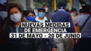 Conoce aquí las nuevas medidas de prevención que se regirán desde el 31 de mayo al 20 de junio