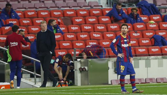 El Camp Nou de Barcelona tiene permitido recibir a los asistentes hasta en un 40% de su aforo. (Foto: AP)